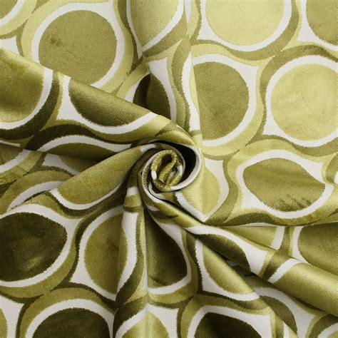 funky upholstery fabric designer dfs cut velvet large retro vintage circle spots