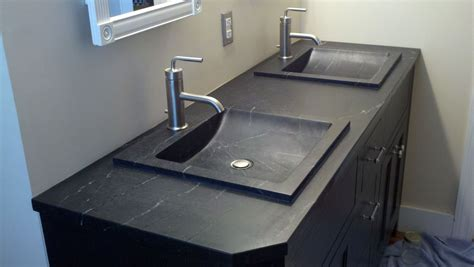 soapstone bathroom vanity custom soapstone vanity by industrial stone works