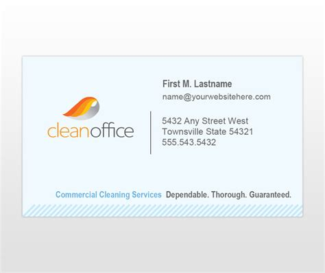 clean buisiness card template the gallery for gt commercial cleaning services business