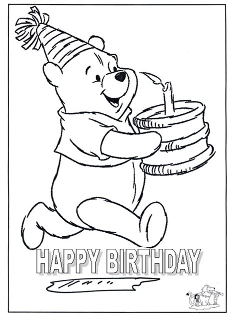 Card Happy Birthday 4 Cards Happy Birthday Cards Coloring Pages