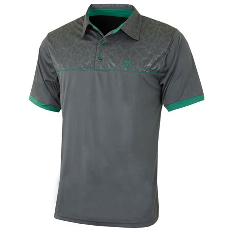pattern golf shirt island green 2017 mens embossed pattern coolplus golf polo