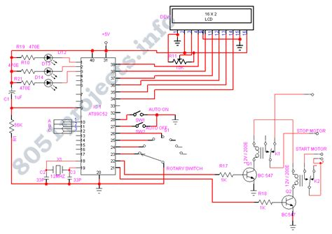 induction generator controller circuit auto of three phase induction motor at89s52