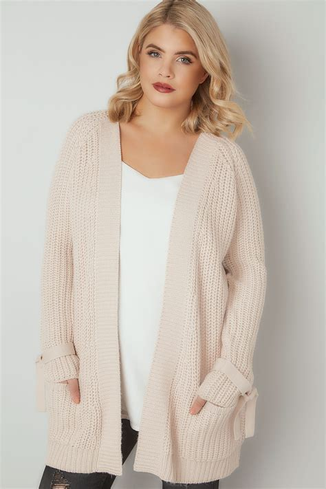 Special Cardi Basic 3tone Pink Cardigan 0109 limited collection chunky knit bow sleeve cardigan plus size 16 to 36