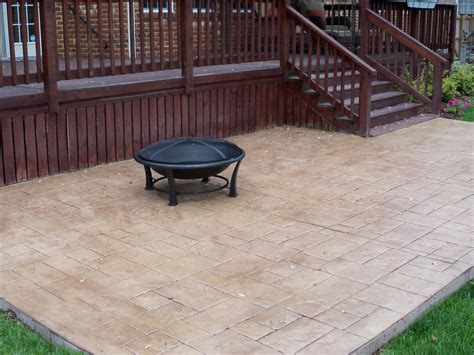 Stamped Concrete Patio Saving Much of Your Budget   Amaza