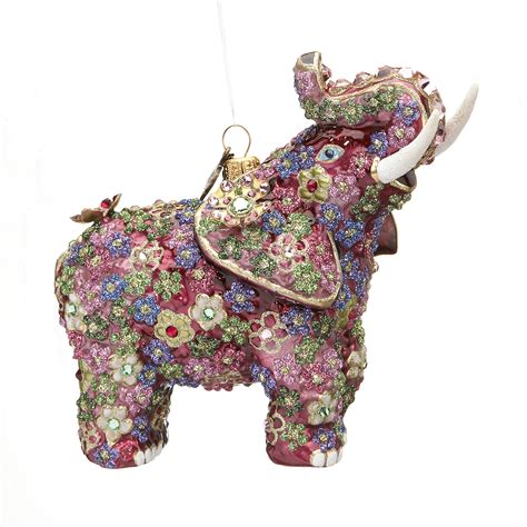 jay strongwater millefiori elephant christmas ornament