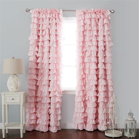 curtains pink curtain astounding ruffled pink curtains pink ruffle