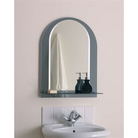 bathroom mirror with shelf bathroom lighting over