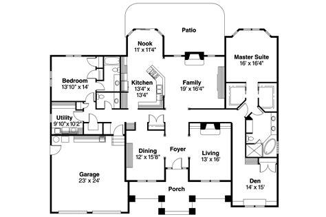 modern home floor plan contemporary house plans stansbury 30 500 associated designs