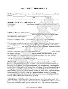 Broker Agreement Template Transportation Contract Agreement Form With Sample