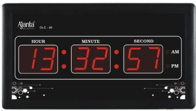 5% off on ajanta digital wall clock(black, with glass) on
