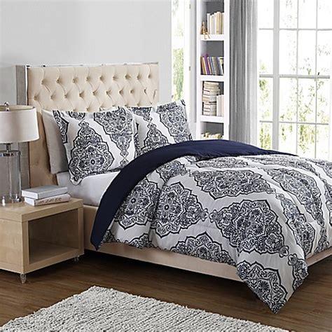 navy damask comforter clinton damask 3 piece comforter set in navy bed bath