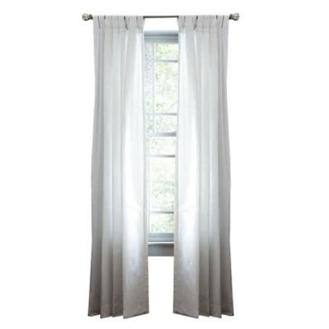white cotton tab top curtains martha stewart living pure white classic cotton tab top curtain 1622325 the home depot