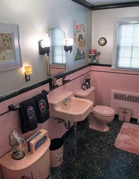 robert s pink and black bathroom makeover retro renovation pink bathroom design ideas and photos
