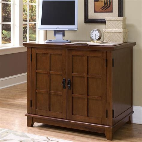 Home Styles Computer Armoire Home Styles Arts And Crafts Compact Computer Armoire Oak At Hayneedle