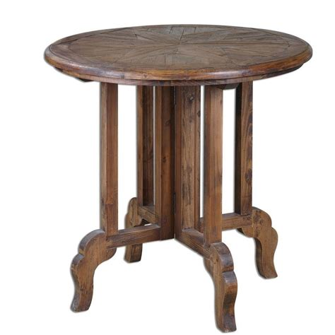 Wood Accent Table Reclaimed Wood Accent Table Sunburst Top Antique Style Pine Ebay
