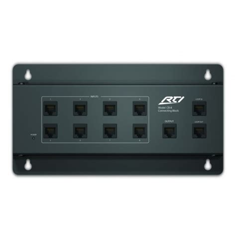 rti cb8 touchpanel connecting block