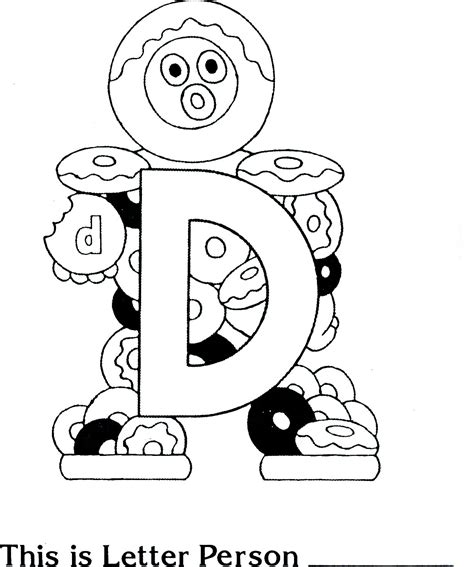 free letter people m coloring pages