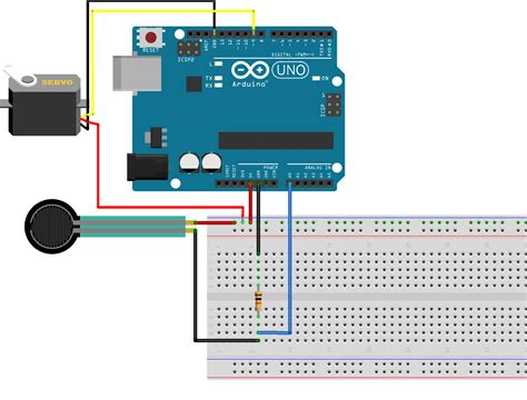 sensing resistor project a servo with a resistive sensor on arduino arduino project hub