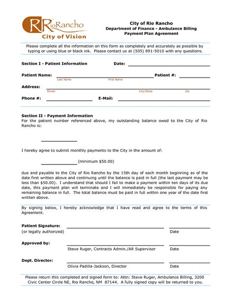 payment plan agreement template 13 best images of payment schedule agreement template