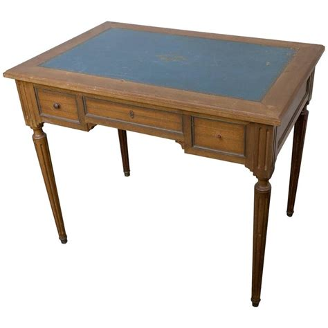 Small Mahogany Desk Small Mahogany Writing Desk With Blue Green Leather Top For Sale At 1stdibs