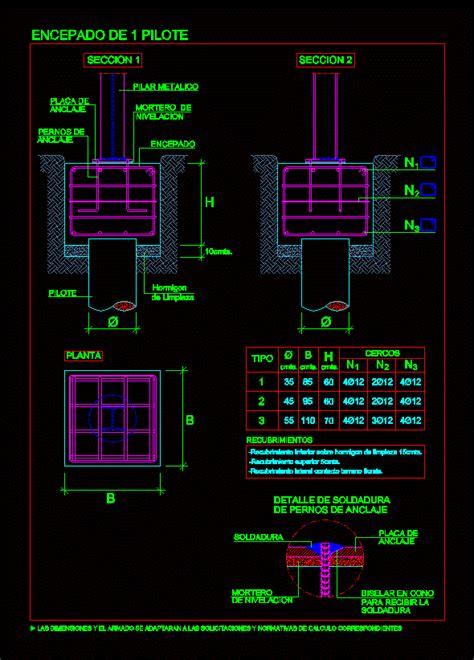 battery pile cap dwg detail  autocad designs cad