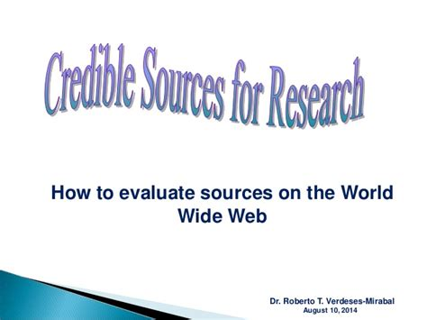 credible sources for research papers identifying credible sources for research paper and