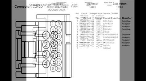 2005 lincoln navigator radio wiring diagram wiring