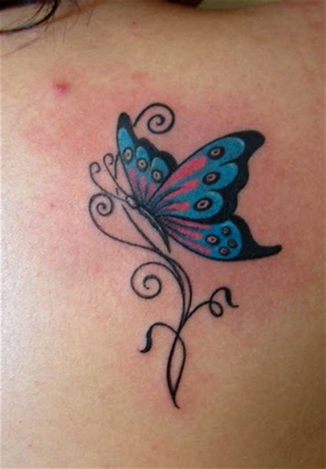 42 Colorful Butterfly Tattoo Ideas Godfather Style Butterfly Tattoos With Tribal