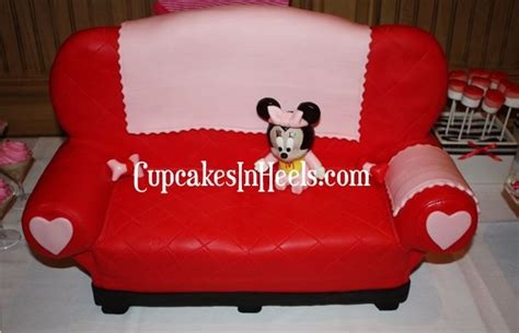 baby shower loveseat baby minnie on minnie mouse s loveseat cake for baby