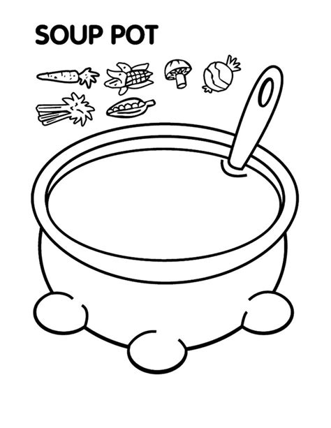 Stone Soup Coloring Pages Sketch Coloring Page Soup Coloring Pages