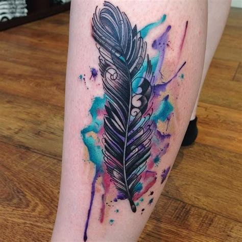feather tattoo colour meanings i hate the feather but i love the colours tattoos