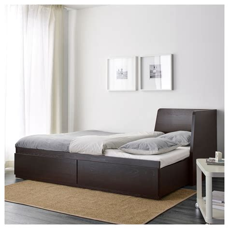 Dipan Ikea flekke day bed frame with 2 drawers black brown 80x200 cm ikea