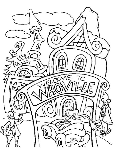 grinch tree coloring page whoville coloring pages hellokids com