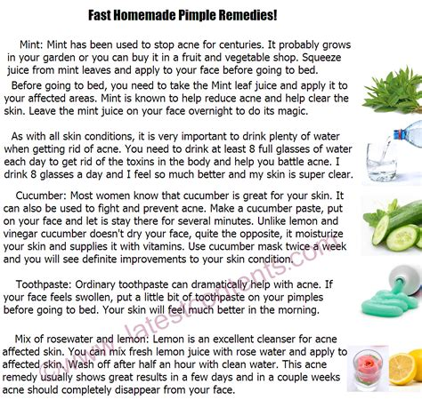Home Tips by How To Get Rid Of Pimples Fast Simple Home Remedies For