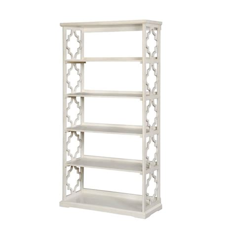 5 shelf bookcase white furniture of america vera contemporary 5 shelf bookcase in white idf ac6280wh