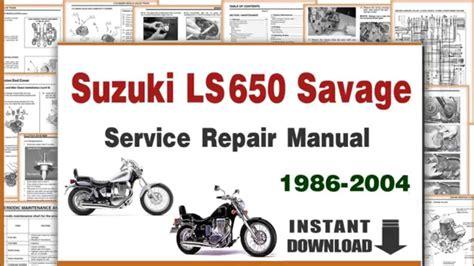 Suzuki Savage Manual Pdf Suzuki Ls650 Savage Service Repair Manual 1986