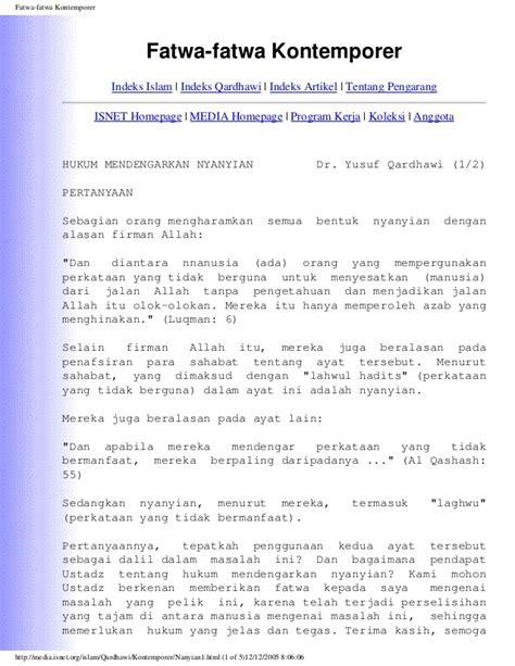 Islam Jalan Tengah Dr Yusuf Qardhawi 1 fatwa kontemporer yusuf qardhawi media islam 2005