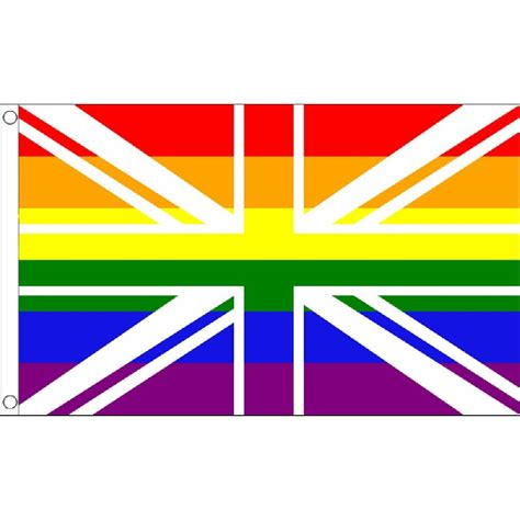 union jack rainbow pride flag 5 foot x 3 foot