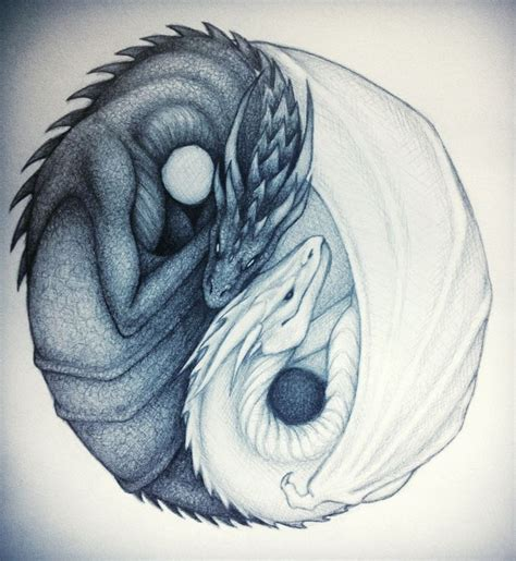 yin yang dragon tattoos best 25 yin yang ideas on