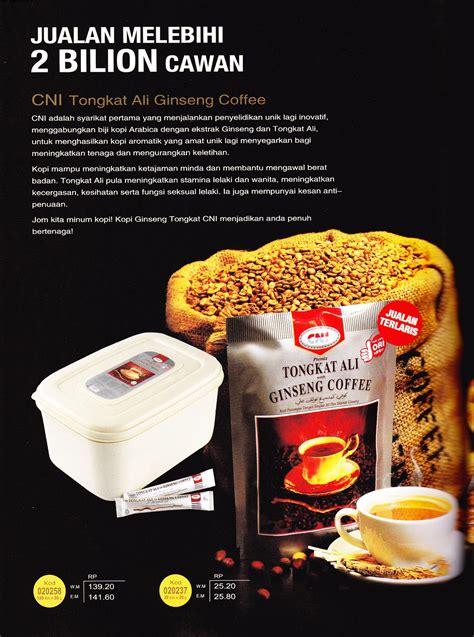 Teh Ginseng Cni inilah harinya cni tongkat ali ginseng coffee