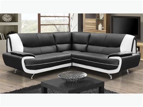 White Faux Leather Corner Sofa by New Elnora Faux Leather Corner Sofa Suite In Black And