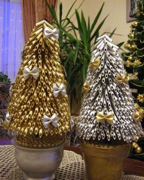 macaroni christmas tree crafts for tree ornaments with pasta