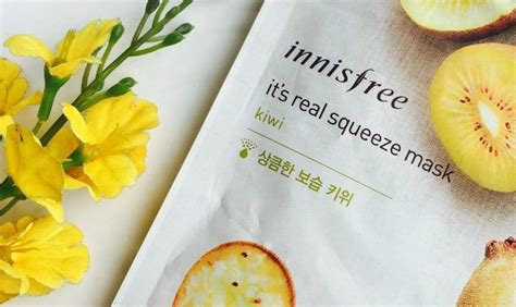 Innisfree My Real Squeeze Mask 100 Original 1 innisfree kiwi it s real squeeze mask review