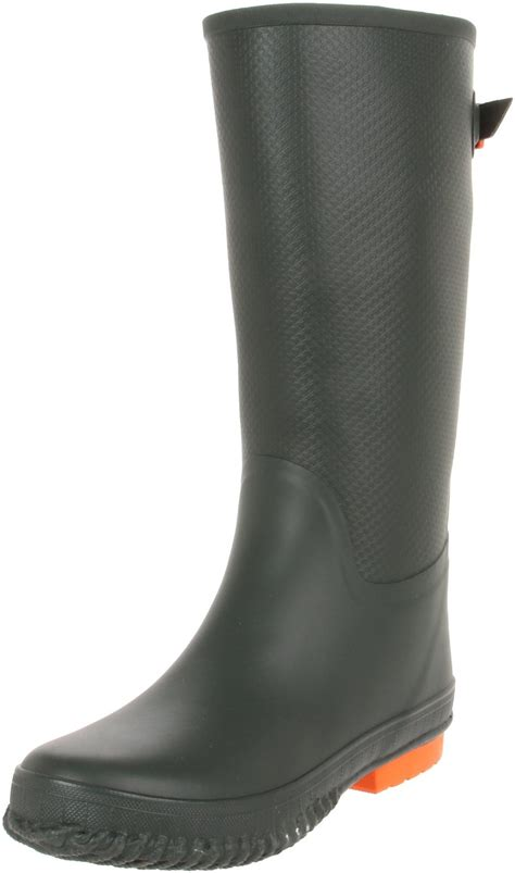 womans rubber boots tretorn womens emelie rubber boot in green olive