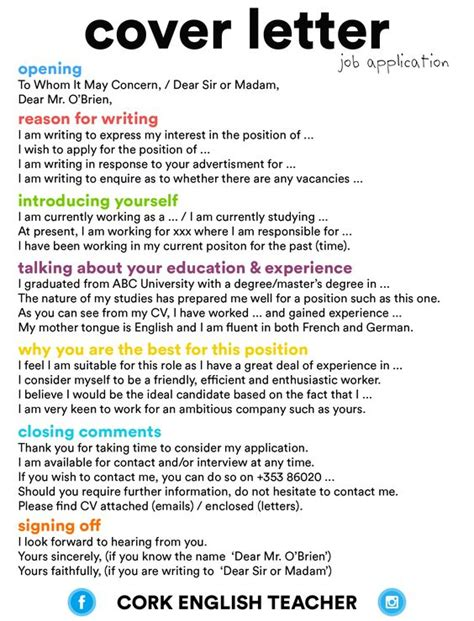 things to say in a cover letter for a cover letter application language esl