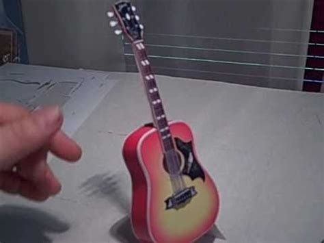 How To Make A Guitar With Paper - paper guitar model 2