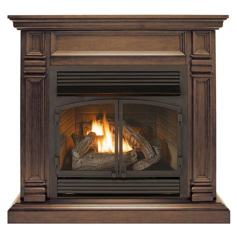 ventless fireplace system dual fuel technology chocolate