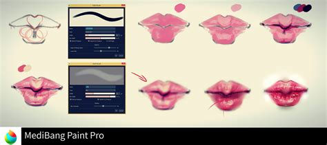 medibang paint ryky s medibang paint lip tutorial medibang paint