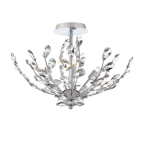 chrome flush mount light home decorators collection maridana collection 4 light