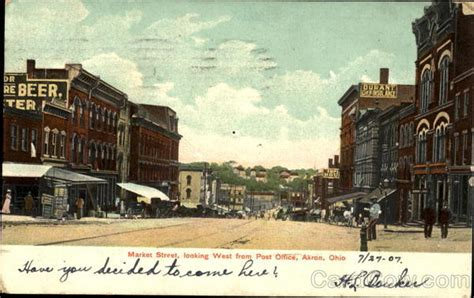 market looking west from post office akron oh